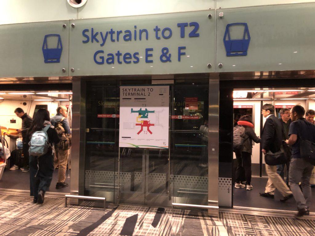 シンガポール空港内モノレール