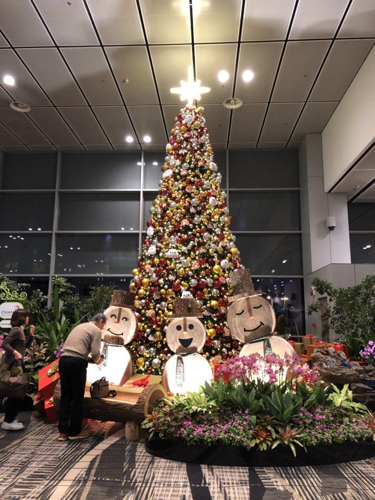 シンガポール空港クリスマスツリー