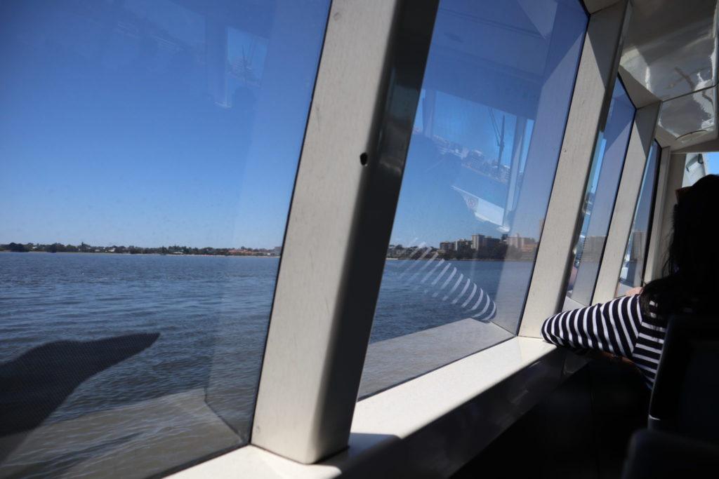 船からみたスワン川