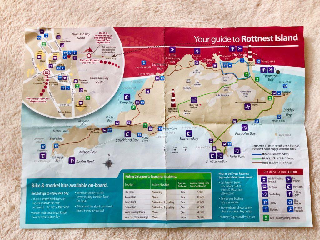 ロットネスト島地図